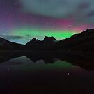 Aurora Cradle Mountain by Claire Walsh