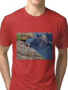 Puffin Skellig Island, Ireland Tri-blend T-Shirt