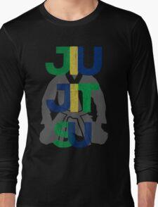 Jiu Jitsu Graphic Letter Long Sleeve T-Shirt