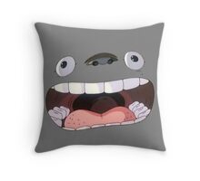 Big Mouth Totoro Throw Pillow
