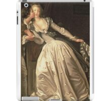 Jean-Honore Fragonard - The Stolen Kiss. Lovers portrait: sensual woman, woman and man, kiss, kissing lovers, love relations, lovely couple, family, valentine's day, sexy, romance, female and male iPad Case/Skin