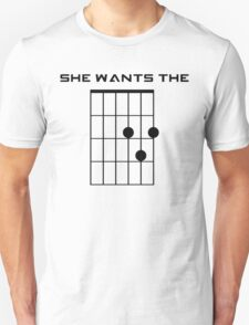 She Wants the D (Chord) T-Shirt