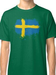 Sweden - Paint Splatter Classic T-Shirt