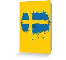 Sweden - Paint Splatter Greeting Card