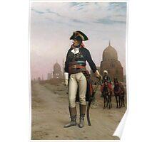Jean-Leon Gerome - Napoleon In Egypt. Man portrait: strong man, boy, male, beard, business suite, masculine, boyfriend, smile, manly, sexy men, mustache Poster