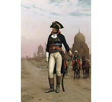 Jean-Leon Gerome - Napoleon In Egypt. Man portrait: strong man, boy, male, beard, business suite, masculine, boyfriend, smile, manly, sexy men, mustache Photographic Print