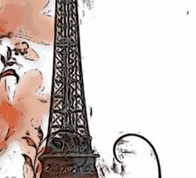 Artistic Paris Eiffel Tower design Sticker