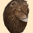 Male Lion Portrait by Walter Colvin