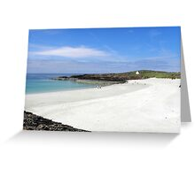 White sands at Clachtoll beach Greeting Card