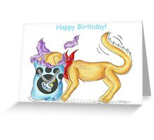Golden Snooper Greeting Card