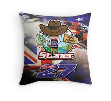 Casey Stoner Gone Fishin Throw Pillow