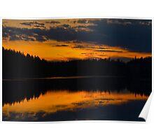 Cariboo Sunset Poster