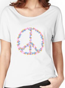 Floral Peace Women's Relaxed Fit T-Shirt