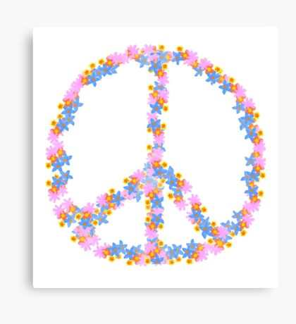 Floral Peace Canvas Print