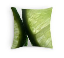 Sliced Limes Throw Pillow