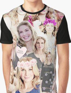 Elizabeth Mitchell Collage Graphic T-Shirt