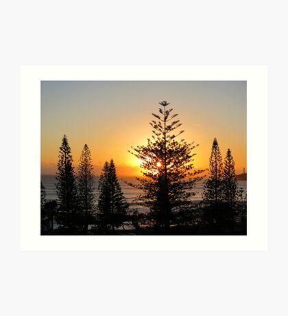 Sunrise at Mooloolaba Australia Art Print