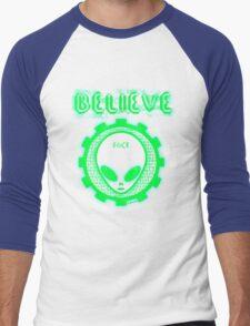 Believe Alien Fact Men's Baseball ¾ T-Shirt