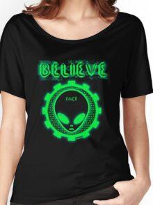 Believe Alien Fact Women's Relaxed Fit T-Shirt