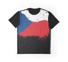 Czech Republic - Paint Splatter Graphic T-Shirt