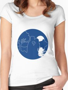 full moon romance nature Women's Fitted Scoop T-Shirt