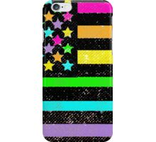 Neon colors artistic American flag iPhone Case/Skin