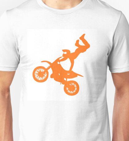 Simple orange dirt bike motocross design Unisex T-Shirt