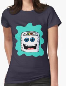 Funny Sushi Cartoon  Womens Fitted T-Shirt