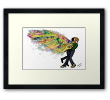 Dean and Castiel Hug  Framed Print