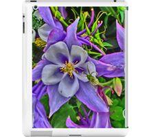 Illuminated bright columbine purple flowers iPad Case/Skin