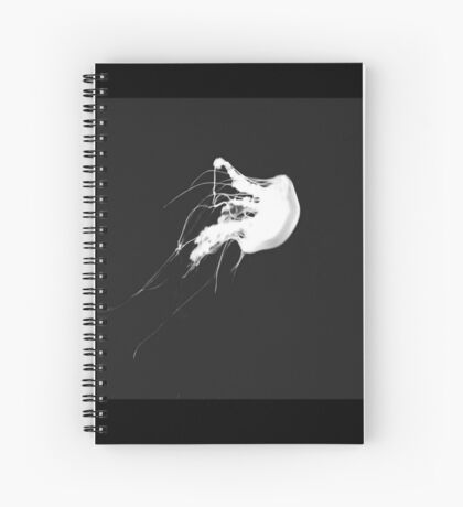 Black and White Jellyfish Spiral Notebook