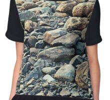 Rocky Shoreline Chiffon Top