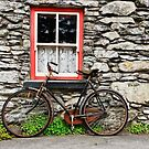 rural old stone cottage house bicycle countryside ireland by Noel Moore Up The Banner Photography