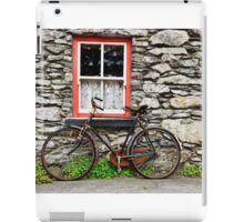 rural old stone cottage house bicycle countryside ireland iPad Case/Skin