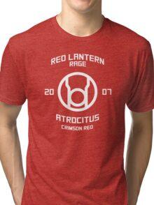 Red Lantern - Boxing Style - White Print Tri-blend T-Shirt