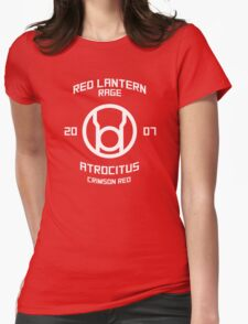 Red Lantern - Boxing Style - White Print Womens Fitted T-Shirt