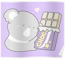 Chocolate and cuddles everyday please Poster