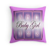 Baby Girl Throw Pillow Throw Pillow