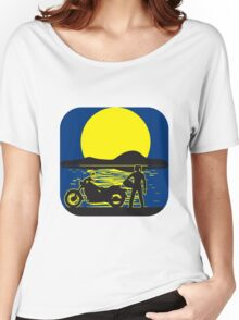 full moon motorcycle Women's Relaxed Fit T-Shirt
