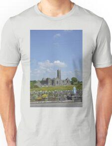 Quin Abbey County Clare Ireland Landmark Scenic Landscape Unisex T-Shirt