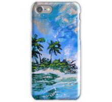 Tropical Island Painting for Sale Oil Canvas Art Large Wall Decor by Artist Ekaterina Chernova iPhone Case/Skin