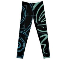 METAMORPHOSIS - Become the Butterfly - Blue Green Graphic - Positive Encouragement - on Black Leggings