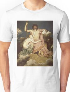 Jean-Auguste-Dominique Ingres - Jupiter And Thetis. Lovers portrait: sensual woman, woman and man, kiss, kissing lovers, love relations, lovely couple, family, valentine's day, sexy, romance Unisex T-Shirt