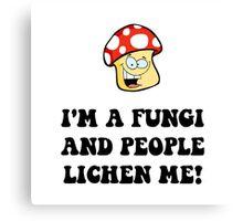 Fungi Lichen Canvas Print