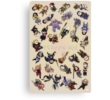 Dragon Age Party members Canvas Print