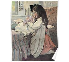 Jessie Willcox Smith - I Love My Doll. Child portrait: cute baby, kid, children, pretty angel, child, kids, lovely family, boys and girls, boy and girl, mom mum mammy mam, childhood Poster