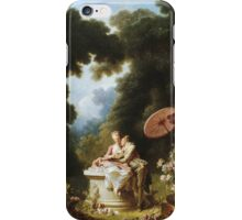 Jean-Honore Fragonard - Love Letters. Lovers portrait: sensual woman, woman and man, kiss, kissing lovers, love relations, lovely couple, family, valentine's day, sexy, romance, female and male iPhone Case/Skin