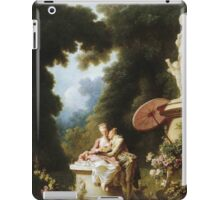 Jean-Honore Fragonard - Love Letters. Lovers portrait: sensual woman, woman and man, kiss, kissing lovers, love relations, lovely couple, family, valentine's day, sexy, romance, female and male iPad Case/Skin