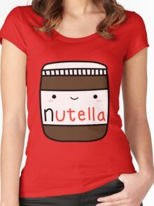 Nutella kawaii. Women's Fitted Scoop T-Shirt
