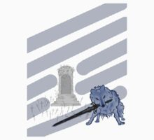 Great Grey Wolf Sif and Artorias T-Shirt